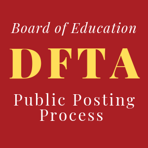 DFTA Public Posting Process documents