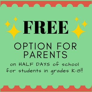 FREE Half Day Options for Parents