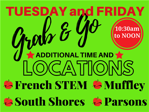 Grab & Go FOUR new locations and added time
