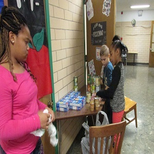 Students Open Food Bank for Families