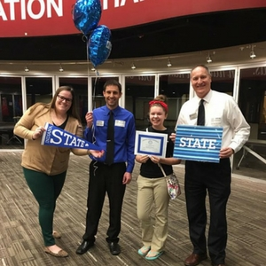 EHS student, Gabby Tortorice, receives the Presidential Scholarship from Indiana State University!